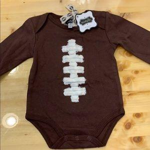 Football newborn long sleeve onesie